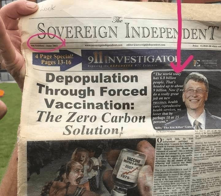 Bill Gates z roku 2011- De-populace lidstva