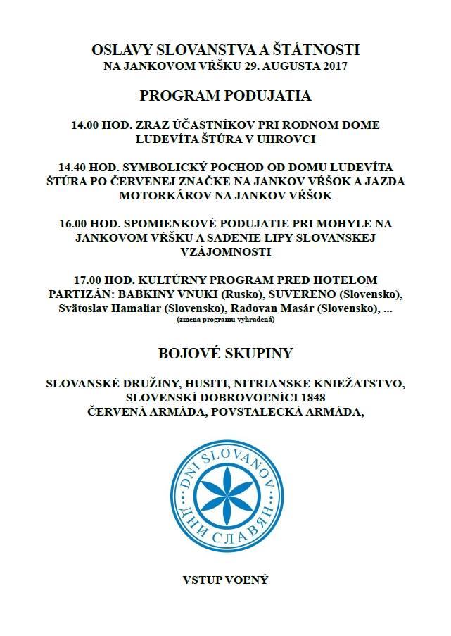 program Uhrovec - Jankov Vrsok