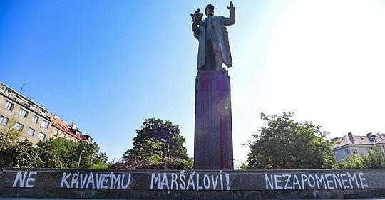 socha sovetskeho marsala I. S. Koneva