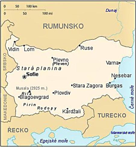Slovanské Védy z Rodopských hor - mapa