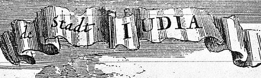 mesto s názvom IUDEA (z lat. JUDEA)