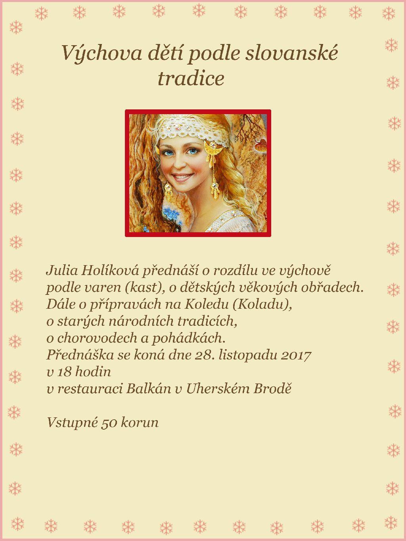 2017-11-28 Vychova deti podle slovanske tradice (U. Brod)