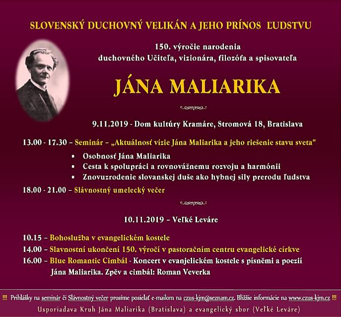 2019-11-09 Oslavy 150 let Jana Maliarika