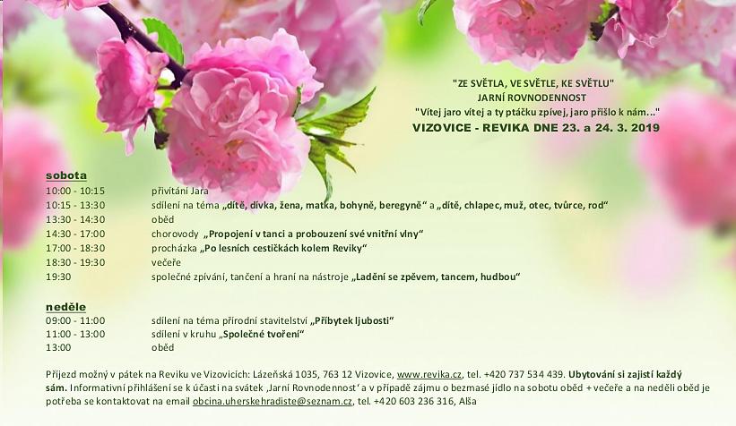 Jarni rovnodennost (23.-24.3.2019, Revika Vizovice)