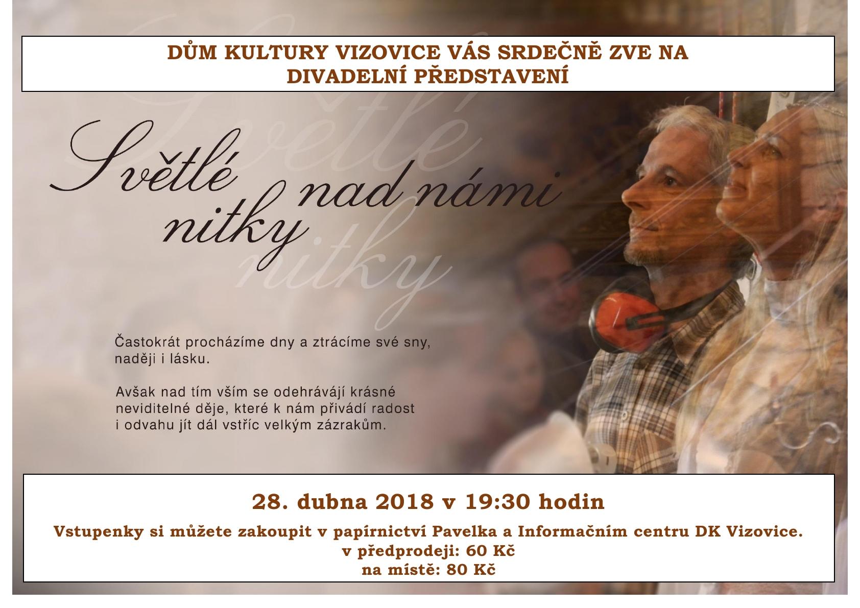 plakat Svetle nitky nad nami (KD Vizovice)